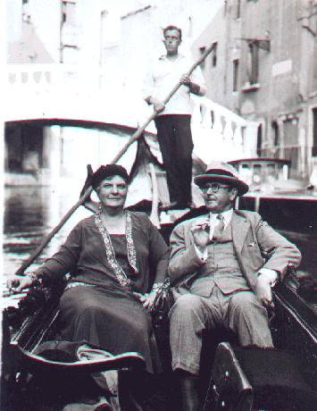 Melinna and Harrison Cady in Venice, 1931.